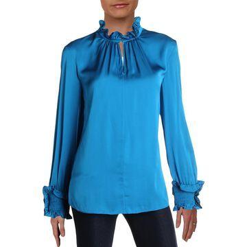 Kobi Halperin Womens Silk Ruffled Blouse