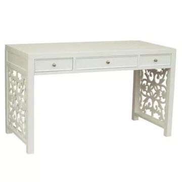 Pulaski Fretwood-Accent Desk In White