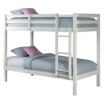 NE Kids Caspain Twin Over Twin Bunk Bed in White