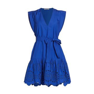 Derek Lam 10 Crosby Lee Eyelet Cotton Dress