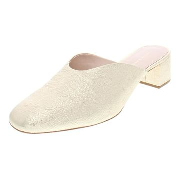 Loeffler Randall Womens Lulu Metallic Leather Mules