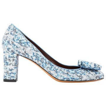 Bruno Magli Blue Cloth Heels
