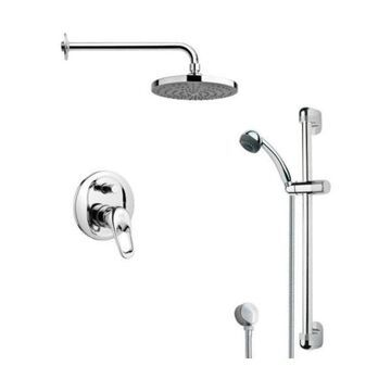Nameeks SFR7165 Remer Single Handle Shower System Faucet, Chrome