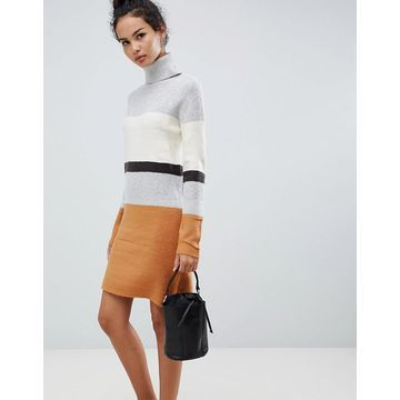 QED London Ribbed Sweater Dress in Stripe