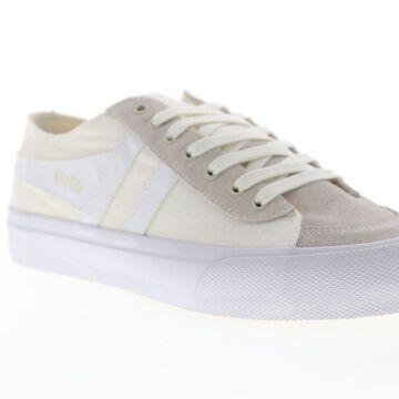 Gola Quota II Off White White Mens Low Top Sneakers