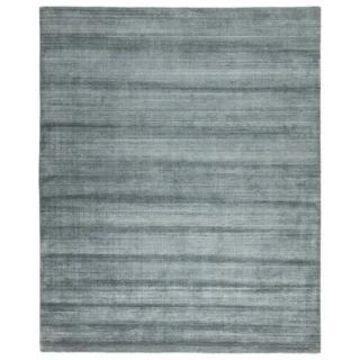 Menzel Handmade Solid Gray/ Light Blue Area Rug