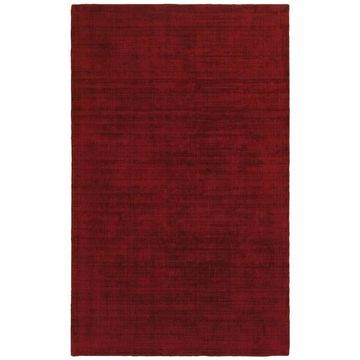 Style Haven Monochromatic Plush Red/Red Hand-tufted Area Rug (10' x 13') - 10' x 13'