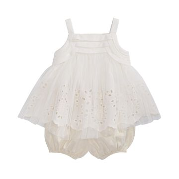 First Impression's Baby Girl's Metalic Bloomer Set, Created for Macy's