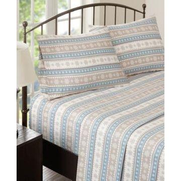 Woolrich Cotton Flannel 4-Piece Queen Sheet Set Bedding