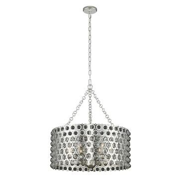 Allegri 032251014 Six Light Pendant Vita Polished Silver - One Size (One Size - Clear)