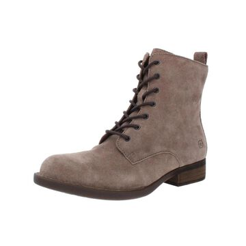 Born Womens Remy Booties Suede Lace-Up