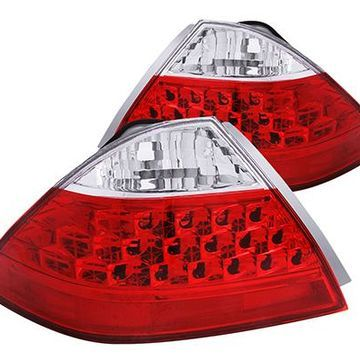 Anzo USA Euro Tail Lights in Red/Clear, Euro Tail Lights - 221143