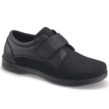 Apex Men's A3000m Classic Strap Oxford Flat, Black, Size 14.0
