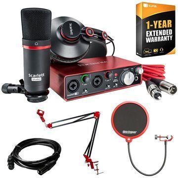 Focusrite Scarlett 2i2 Studio Pack & Record Bundle 2nd Gen w/ Deco Gear Accessories Kit