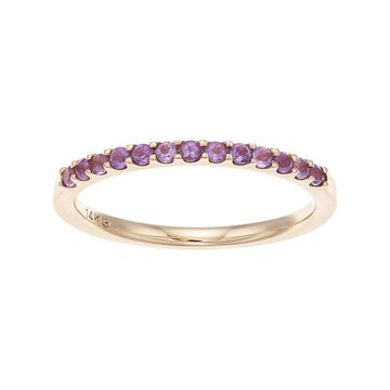 Boston Bay Diamonds 14k Gold Amethyst Stack Ring