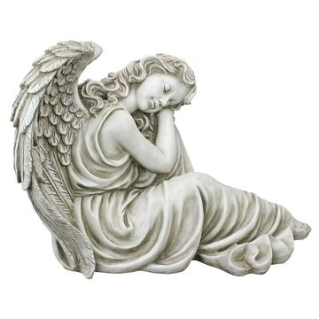 Design Toscano 19-in H x 26.5-in W Off-White Angels and Cherubs Garden Statue