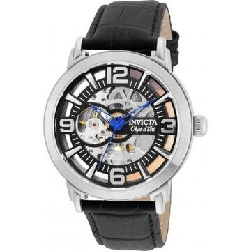 Invicta Men's 22607 'Objet D Art' Black Leather Watch