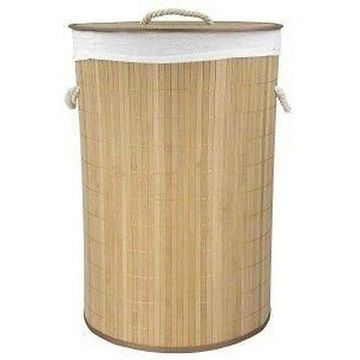 Home Basics BH45098 Round Folding Bamboo Hamper Nat