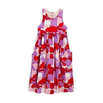 Stella McCartney Girls' Brush Stroke Midi Dress - Little Kid, Big Kid
