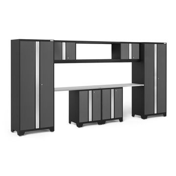 NewAge Products Bold Series 3.0 Grey 9 Piece Cabinet Set with 48