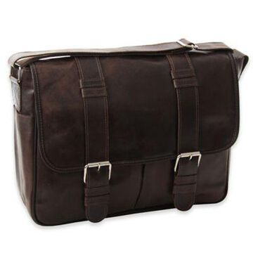 Piel Leather Everyday Messenger in Vintage Brown