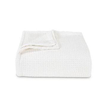 Vera Wang Waffleweave White Blanket, King Bedding