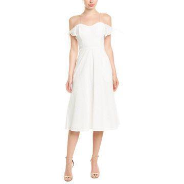 Avec Les Filles Womens Midi Dress