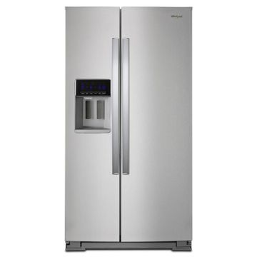 Whirlpool 28.4-cu ft Side-by-Side Refrigerator with Ice Maker (Fingerprint Resistant Stainless Steel)