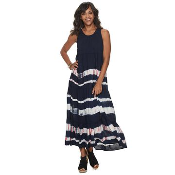 Women's SONOMA Goods for Life Tiered Challis Dress