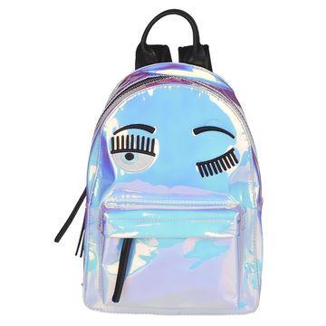 Chiara Ferragni Wink Eye Glossy Backpack