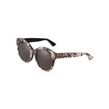 Round Acetate Floral Sunglasses