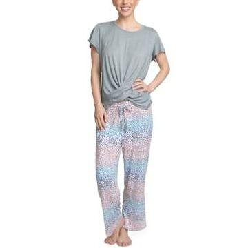 Muk Luks Cloud Knit Cropped Pants Lounge Set