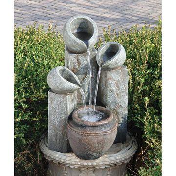 Design Toscano Hadrian's Villa Four Urn Garden Fountain (Off-White - Floor)