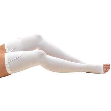 Truform Anti-Embolism Thigh Length Stockings, Open Toe: 18 mmHg, White, Large