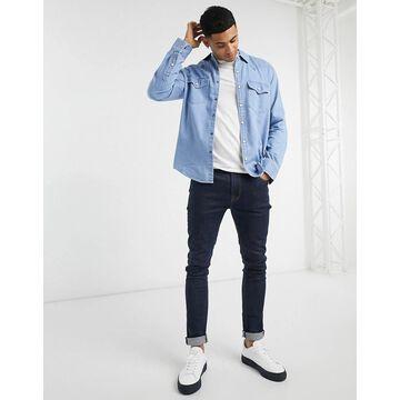 Abercrombie & Fitch denim shirt in medium wash blue