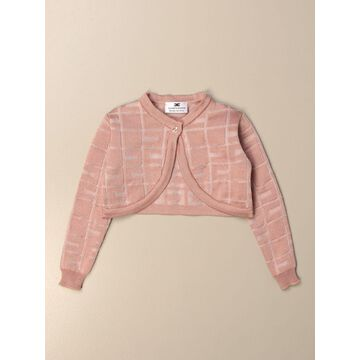 Elisabetta Franchi cropped cardigan with all over logo