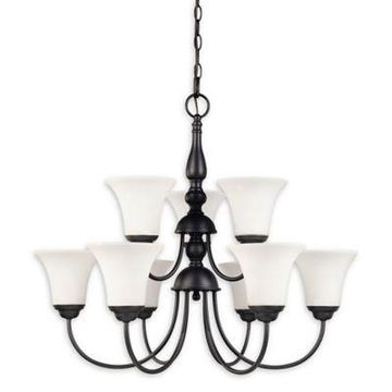 Filament Design 9-Light Traditional Chandelier in Dark Chocolate Bronze