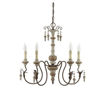 Savoy House Dauphin 26 Inch 5 Light Chandelier Dauphin - 1-9997-5-94 - Transitional