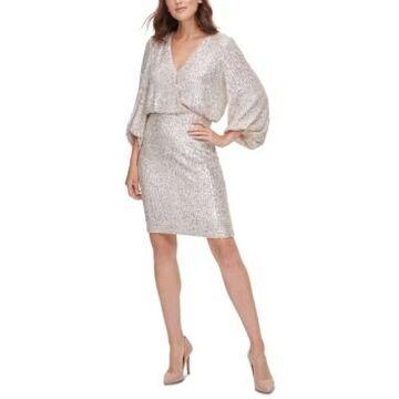 Eliza J Petite Sequinned Sheath Dress