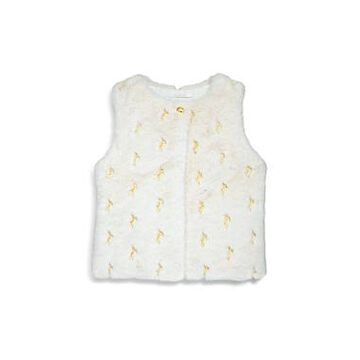 Chloe Girls' Embroidered Faux Fur Vest - Little Kid, Big Kid