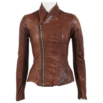 Rick Owens Brown Leather Jackets