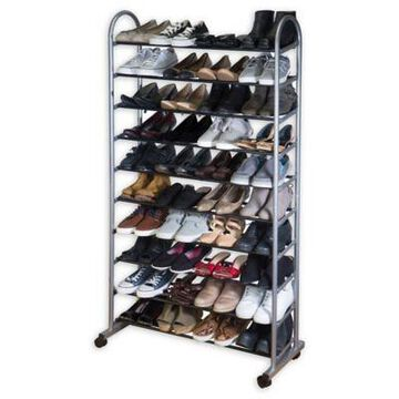 Simplify 10-Tier Mobile Shoe Rack