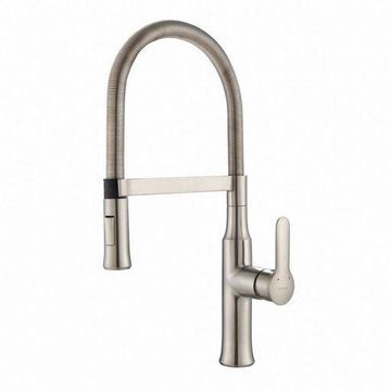 ''Kraus Nola Single Lever Flex Pull-Down Head Kitchen Faucet, Stainless Steel''