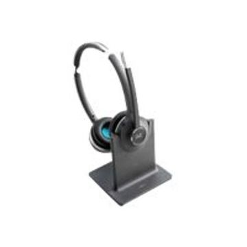 Cisco562 Wireless Dual - Headset - on-ear - DECT 6.0 - wireless - with Standard Base Station - for DX70, DX80; IP Phone 68XX; Webex Board 55, Board 70, Board 85, Room 55, Room 70(CP-HS-WL-562-S-US=)
