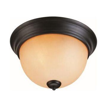 Volume Lighting Rainier 2-Light Flush Mount Ceiling Fixture