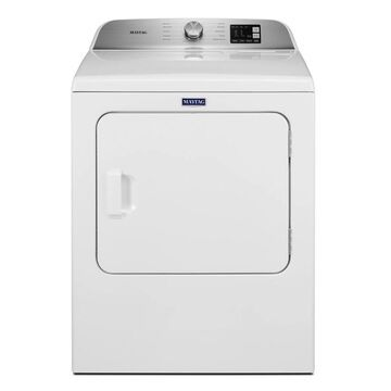 Maytag 7.0 Cu. Ft. White Gas Dryer With Moisture Sensing