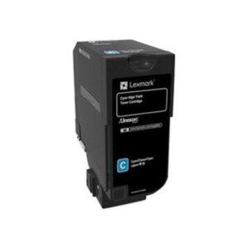Lexmark - High Yield - cyan - original - toner cartridge LCCP - for Lexmark CS725de, CS725dte