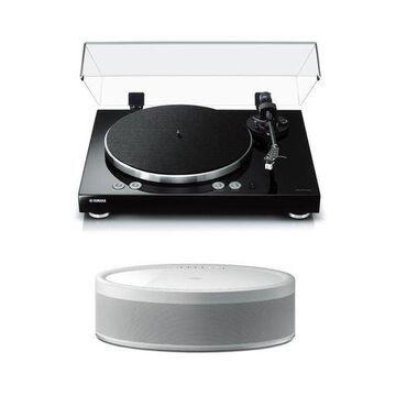 Yamaha MusicCast Vinyl 500 Turntable with MusicCast 50 Wireless Speaker (White)