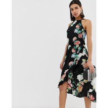 AX Paris floral midi dress-Black