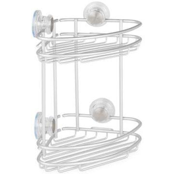 Interdesign Metro Turn-n-Lock 2-Tier Corner Shower Caddy Bedding